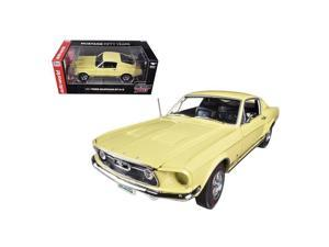 Autoworld AMM1038 1967 Ford Mustang 2 Plus 2 GT Aspen Gold Limited to 1250 Piece 50th Anniversary 1-