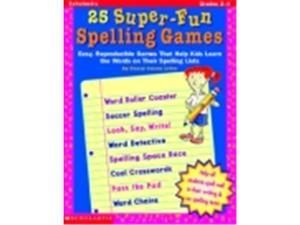 Scholastic 25-Super Fun Spelling Game