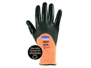 Jackson Safety 138-38648 L3 Knuckle Coated High-Visibility Cut Resistant Glove, Orange, Medium