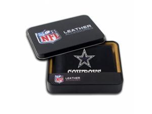 Rico Sporting Goods 138462 Dallas Cowboys Men's Black Leather Bi-fold Wallet