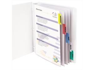 C-Line 05550BNDL6ST Sheet Protectors w/5 Colored Index Tabs & Inserts- Heavy Gauge- Letter