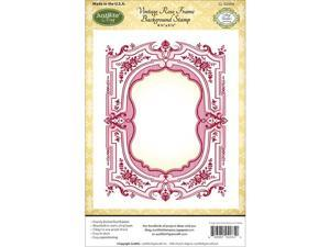 Joseph Abboud 9008 Papercraft Cling Background Stamp 4.5''X5.75''-Vintage Rose Frame