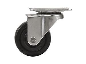 Waxman Consumer Group 4299055 Rubber Plate Swivel Caster, 3 in.