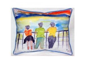Betsy Drake ZP937 Ladies Looking Indoor & Outdoor Throw Pillow, 20 x 24 in.