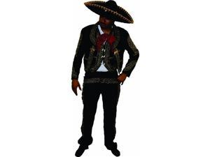 Alexanders Costumes 18-342-40-G Mariachi Male Costume, 40 - Gold