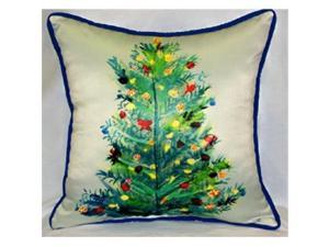 Betsy Drake ZP905 Christmas Tree Throw Pillow, 22 x 22 in.