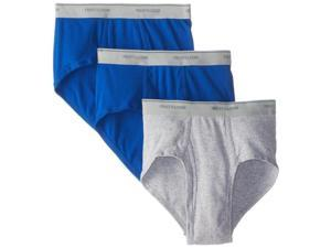 Fruit of the Loom 4609 LARGE Menfts Large Fashion Briefs 3 Count Assorted Colors, Pack of 4