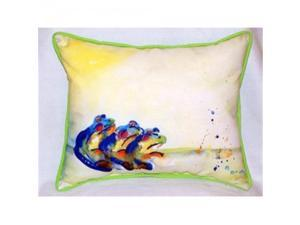 Betsy Drake ZP424 Three Frogs Indoor & Outdoor Throw Pillow, 20 x 24 in.