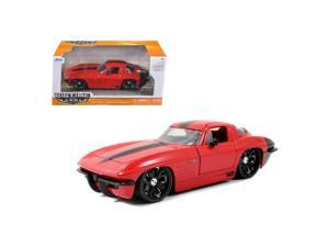 Jada 96808r 1963 Chevrolet Corvette Stingray Red 1-24 Diecast Car Model