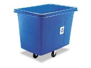 Rubbermaid 461673 Recycling Cube Truck, Rectangular, Polyethylene, 500-lb capacity, Blue