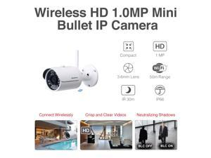 Camius B720W HD 720P Outdoor WiFi Security Camera, works with Camius, Dahua NVR, Onvif, Night Vision (NVR is not included)