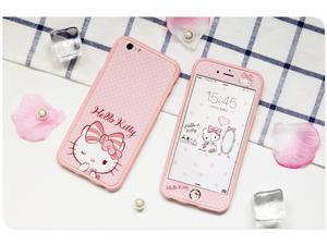 IPhone 7 6S 6 Screen Protector Glass, hello kitty both front and back effect iPhone 7 Tempered Glass Screen Protector for Apple iPhone 7, iPhone 6S, iPhone 6  4,7 inch