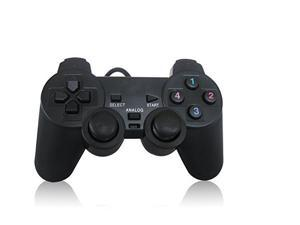 Wired USB 2.0 Game Controller with Shock Joystick Gamepad for Pc Computer Black game pad