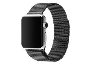 BUREI Men & Women Apple Watch Band, Magnetic Closure Clasp Mesh Loop Milanese Stainless Steel Bracelet Strap For Sport IWatch