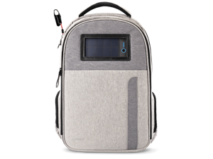 Lifepack Solar Powered and Anti-Theft Backpack with laptop storage - Titanium Grey