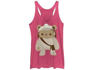 Star Wars Cute Cartoon Ewok Womens Graphic Racerback Tank