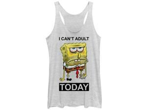 SpongeBob SquarePants Can't Adult Today Womens Graphic Racerback Tank