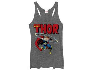 Marvel Mighty Thor Hammer Swing Womens Graphic Racerback Tank