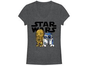 Star Wars R2-D2 and C-3PO Cute Juniors Graphic V Neck