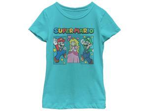 Nintendo Super Mario Brothers and Princess Peach Girls Graphic T Shirt
