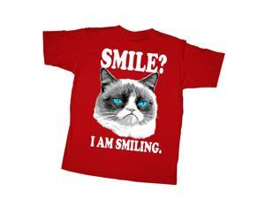 Grumpy Cat I am Smiling Boys Graphic T Shirt