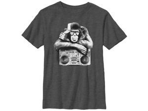 Lost Gods Boombox Chimp - Boys Graphic T Shirt