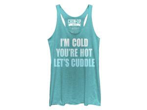 CHIN UP Let's Cuddle Womens Graphic Racerback Tank