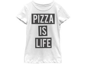 Lost Gods Pizza is Life Girls Graphic T Shirt