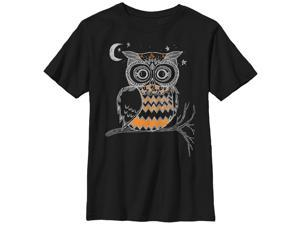 Lost Gods Owl in the Night - Boys Graphic T Shirt