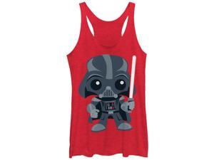 Star Wars Cute Cartoon Darth Vader Womens Graphic Racerback Tank