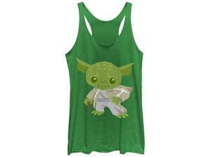 Star Wars Cute Cartoon Yoda Womens Graphic Racerback Tank