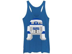 Star Wars Cute Cartoon R2-D2 Womens Graphic Racerback Tank