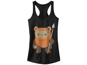 Star Wars Wicket Ewok Cartoon Juniors Graphic Racerback Tank