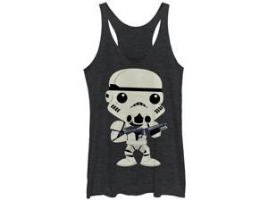 Star Wars Cute Cartoon Stormtrooper Womens Graphic Racerback Tank