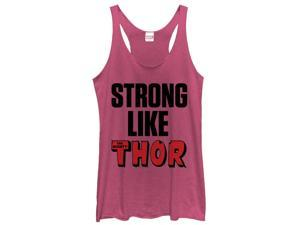 Marvel Strong Like Thor Womens Graphic Racerback Tank