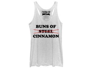 CHIN UP Buns of Cinnamon Womens Graphic Racerback Tank