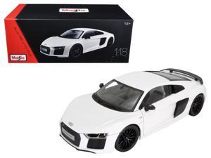 Audi R8 V10 Plus White Exclusive Edition 1/18 Diecast Model Car by Maisto