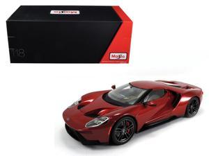 2017 Ford GT Metallic Red Exclusive Edition 1/18 Diecast Model Car by Maisto