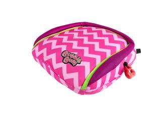 BubbleBum Travel Car Booster Seat - Pink Chevron