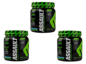 MusclePharm Assault Pre-Workout Powder - 30 Serving (x3 Pack)