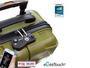 eGeeTouch NFC Smart Luggage Zipper Lock | Instantly Transform Your Old Luggage to a Smart Luggage (BLACK)