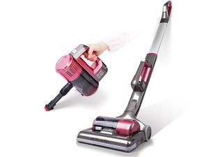 Dibea C01 2-in-1 Cordless Upright Stick Handheld Vacuum Cleaner for Carpet LED Light, Titanium Grey