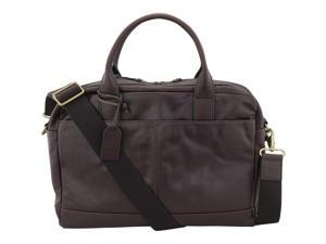 Fossil Women's Wyatt Leather Workbag, Dark Brown MBG9028201