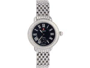 Michele MWW21E000018 Serein Ladies Watch Black Dial Stainless Steel Case Quartz