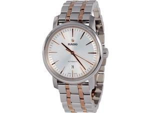 Rado R14050103 Diamaster Mens Watch - White Dial Stainless Steel Case Automatic