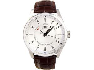 Oris 75576914051LS Pointer Mens Watch Silver Dial Stainless Steel Case Automatic