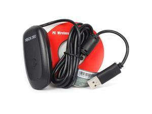 Jieyuteks USB Xbox 360 Wireless Receiver for Windows PC Controller to Computer Gaming Platform Adapter with Driver CD