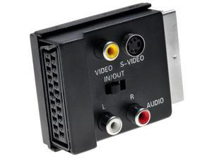 Kabalo Switchable Scart to Scart, S-Video, and 2 RCA Audio Adaptor / Adapter
