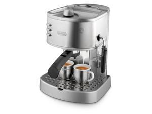 DeLonghi EC330 15-Bar Pump Espresso and Cappuccino Machine with Manual Frother