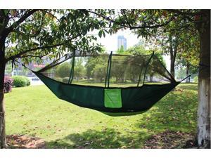 Aotu F09-02360 Portable Hammock for two person Parachute Woven Cloth Camping Mosquito Hammock with Mosquito Nets Camping Mat canopy
